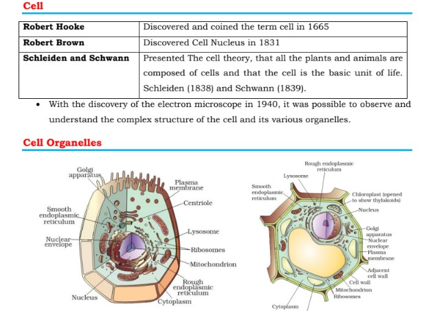 Biology Notes for SSC CGL Free PDF Download
