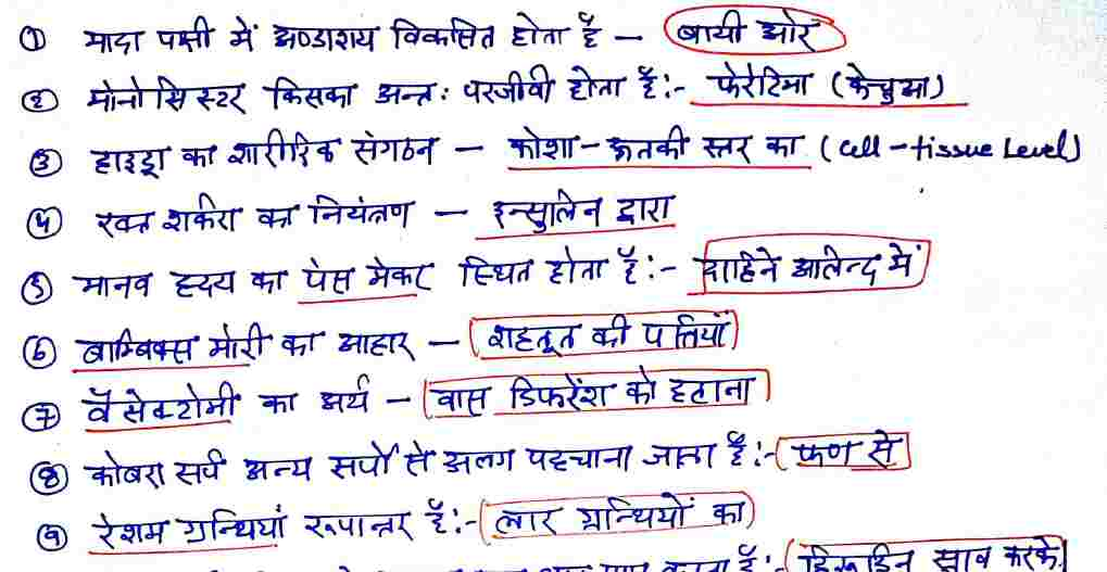 Biology Handwritten Notes in Hindi PDF Download Now