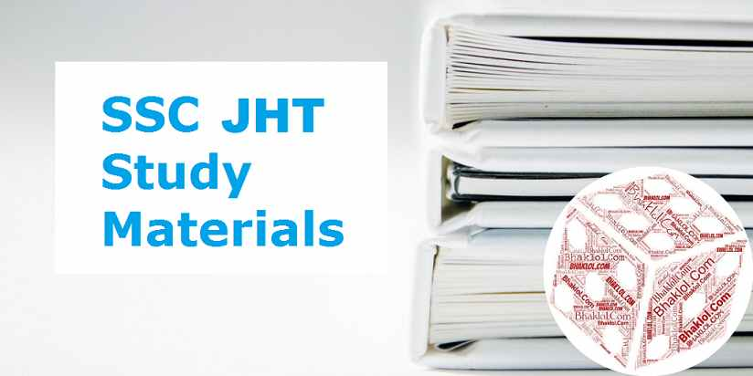 SSC JHT 2019 Study Material in Hindi PDF Download