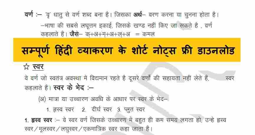 Hindi Grammar Questions PDF