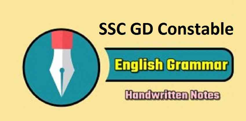 SSC GD Constable English