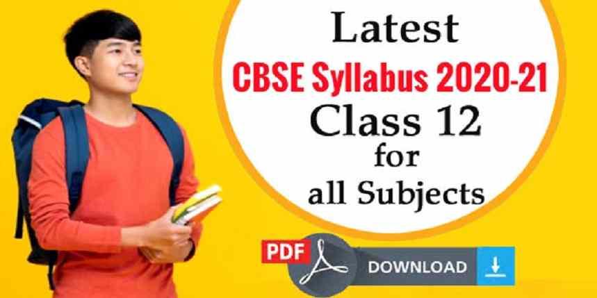 CBSE Syllabus Class 12