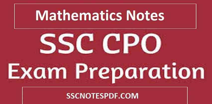 SSC CPO Maths