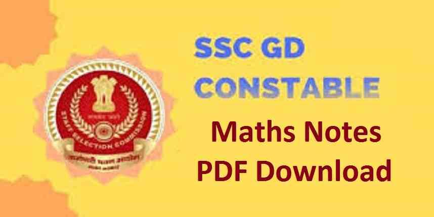 SSC GD Constable Maths