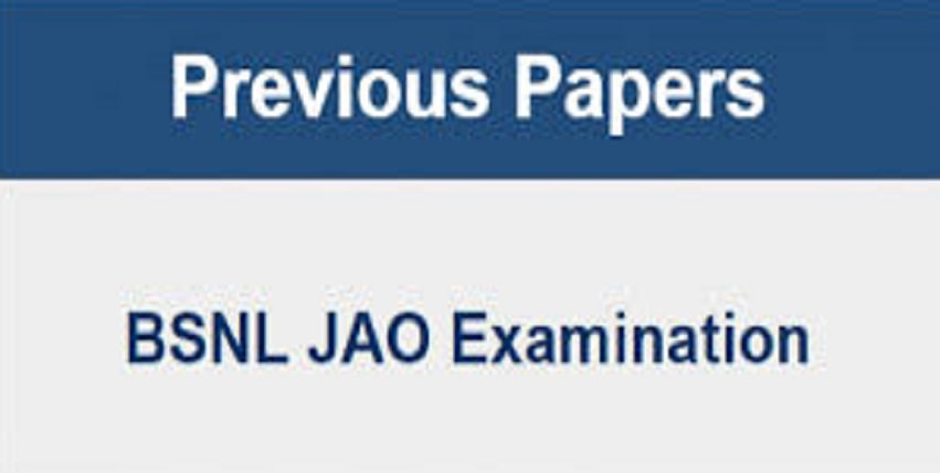 BSNL JAO Previous Question Paper