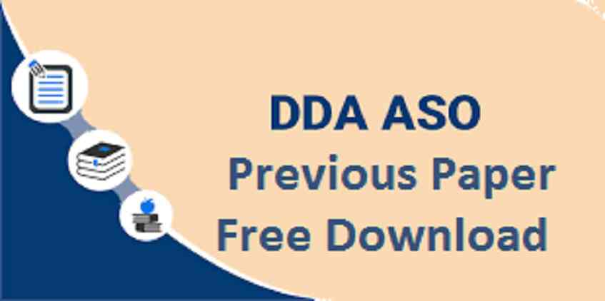 DDA ASO Previous Year Question Paper