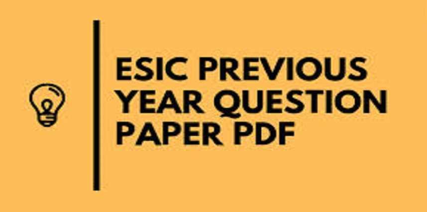 ESIC Staff Nurse Previous Year Paper