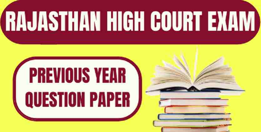 Rajasthan High Court Previous Year Paper
