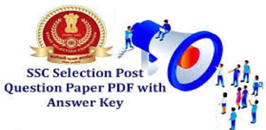 SSC Selection Post Question Paper