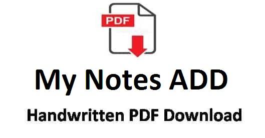 MY Notes Adda