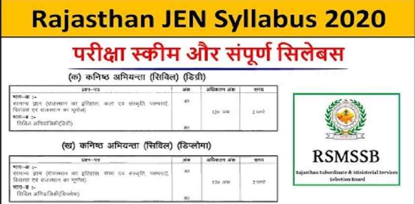 Rajasthan JE Syllabus