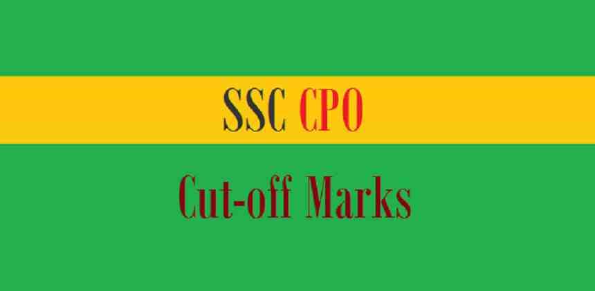 SSC CPO Cut Off 2018