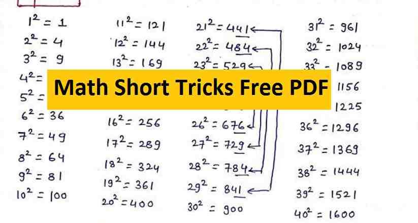 Tricks for Mathematics PDF