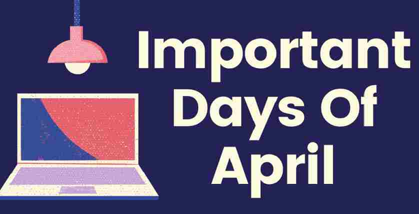 Important Days in April