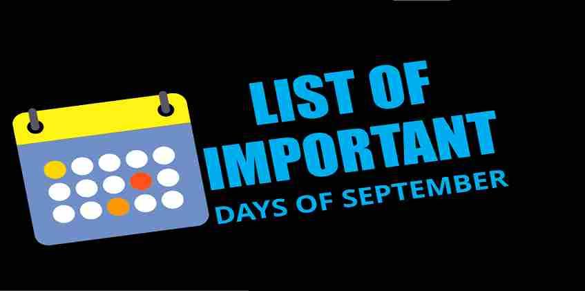 Important Days in September