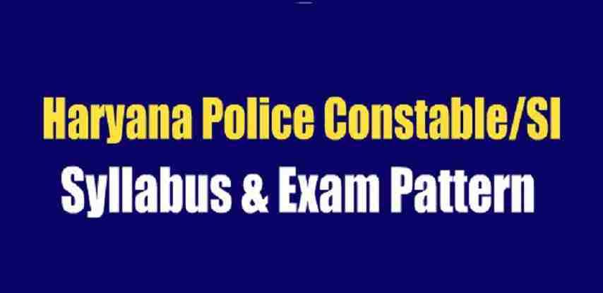 Haryana Police Syllabus